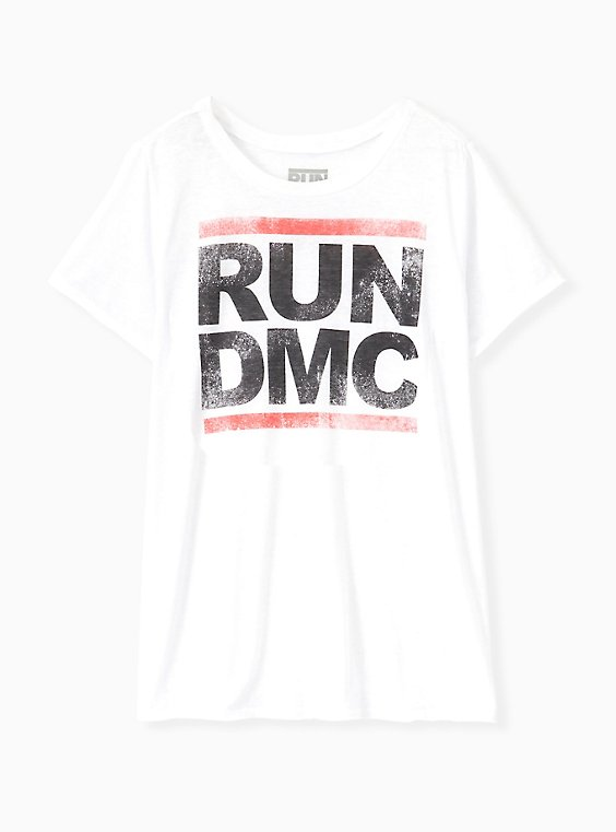 Run DMC Crew Tee - Burnout White, CLOUD DANCER, ls
