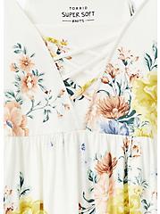 Super Soft White Floral Lattice Babydoll Came, CLOUD DANCER, alternate