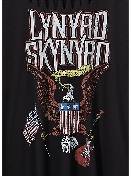 Lynyrd Skynyrd Black Slashed Tee, DEEP BLACK, alternate