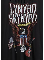 Lynyrd Skynyrd Black Slashed Tee, DEEP BLACK, alternate