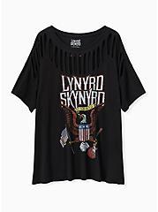 Lynyrd Skynyrd Black Slashed Tee, DEEP BLACK, hi-res