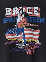 Bruce Springsteen Black Crop Crew Tee, DEEP BLACK, alternate