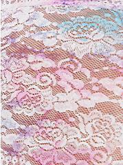 Pink & Purple Tie-Dye Lace Cheeky Panty, COLORFUL NICE DYE, alternate