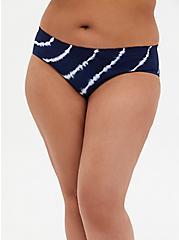Navy Tie-Dye Seamless Hipster Panty, PEACOAT TIE DYE- NAVY, hi-res