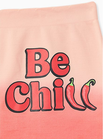 Be Chill Jalapeno Ombre Coral Seamless Boyshort Panty, JALPENOS- CORAL, alternate