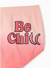 Be Chill Coral & Peach Ombre Seamless Brief Panty, JALPENOS- CORAL, alternate