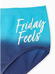 Friday Feels Navy Ombre Seamless Brief Panty , FRIDAY- NAVY, alternate