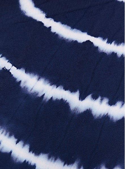 Navy Tie-Dye Seamless Thong Panty , PEACOAT TIE DYE- NAVY, alternate