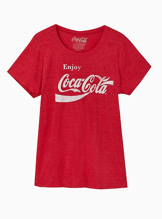 Coca-Cola Red Triblend Crew Tee, , hi-res