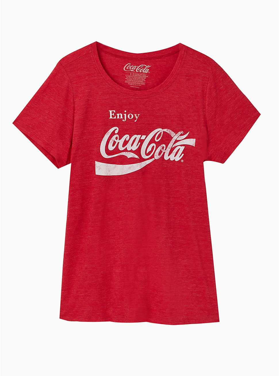 Plus Size Coca-Cola Red Triblend Crew Tee, JESTER RED, hi-res