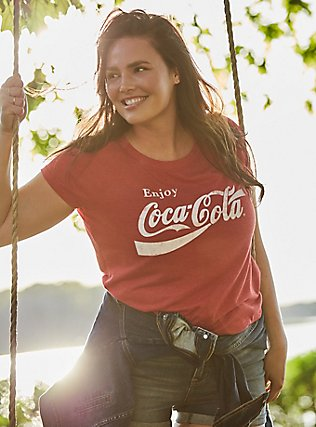 Coca-Cola Red Triblend Crew Tee, JESTER RED, pdped