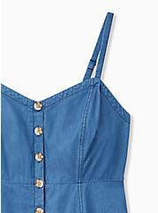 Blue Chambray Button Fit & Flare Cami , CHAMBRAY, alternate