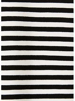Super Soft Black & White Stripe Favorite Tunic Tank, , alternate