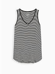Super Soft Black & White Stripe Favorite Tunic Tank, , hi-res