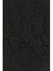 Plus Size Black Lace Goddess Tank, DEEP BLACK, alternate