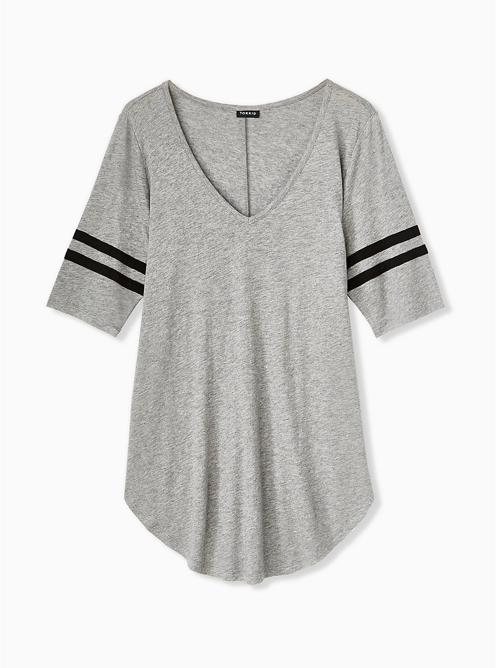 Football Favorite Tunic Tee - Heritage Slub Heather Grey , , hi-res