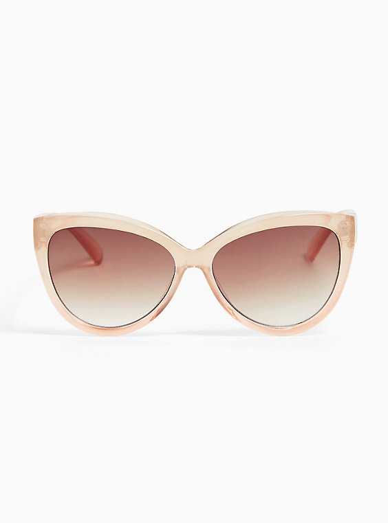 Light Pink Ombre Cat Eye Sunglasses, , hi-res