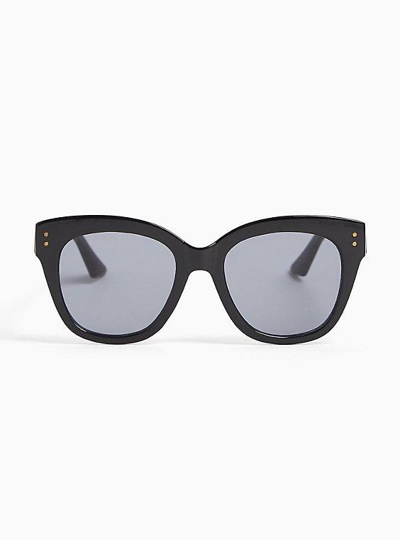 Black Cat Eye Sunglasses, , hi-res