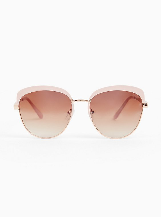 Blush Pink Cat Eye Sunglasses, , hi-res