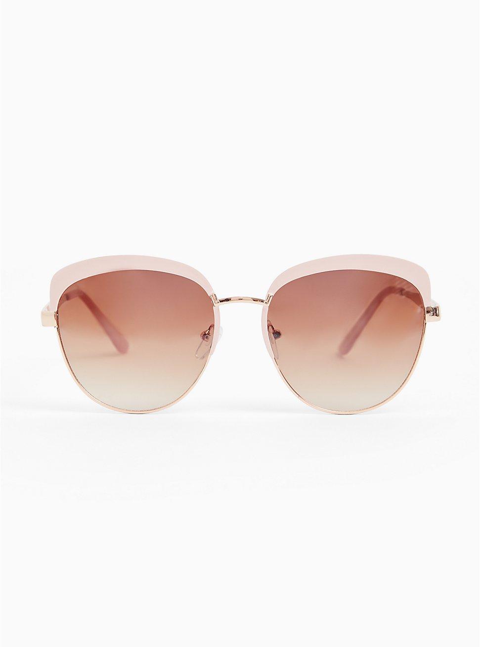 Blush Pink Cat Eye Sunglasses, , hi-res