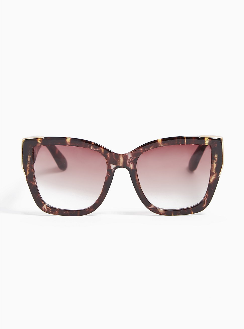 Plus Size Tortoiseshell Cat Eye Sunglasses, , hi-res