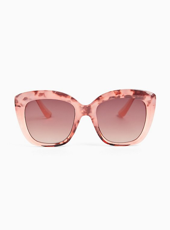 Pink Speckled Cat Eye Sunglasses, , hi-res