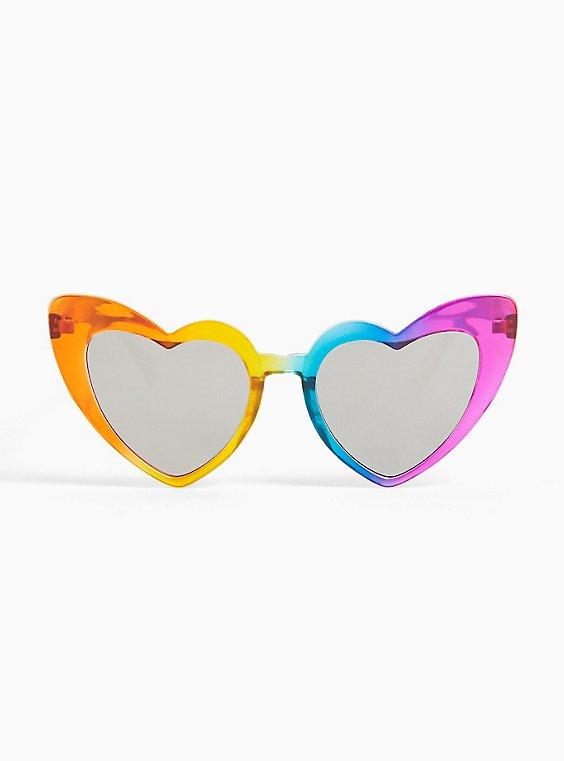 Rainbow Heart Sunglasses, , hi-res