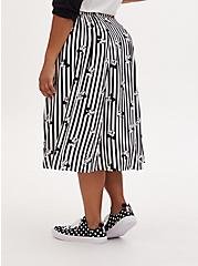 Disney Mickey Mouse & Minnie Mouse Black & White Stripe Challis Midi Skirt, BLACK-WHITE STRIPE, alternate