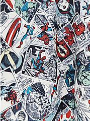Marvel Classic Comic Print Scuba Knit Skater Skirt , MULTI, alternate