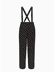 Disney Mickey Mouse & Minnie Mouse Polka Dot Black Challis Overall, MICKEY HEADS, hi-res