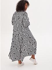 Disney Mickey Mouse & Minnie Mouse Black & White Stripe Challis Kimono, MULTI STRIPE, alternate