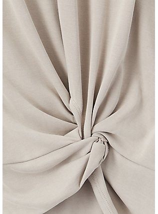 Taupe Side Knot Tee, ATMOSPHERE, alternate