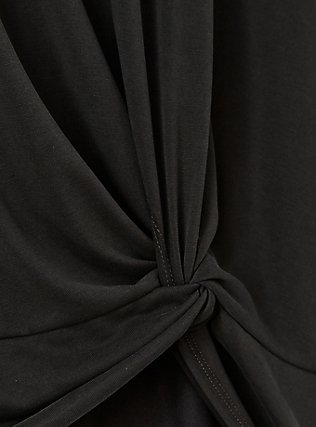 Black Knot Front Tee, DEEP BLACK, alternate