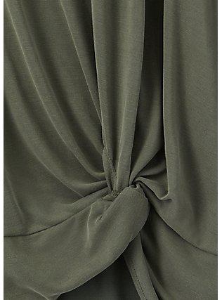 Olive Green Side Knot Tee, DEEP DEPTHS, alternate