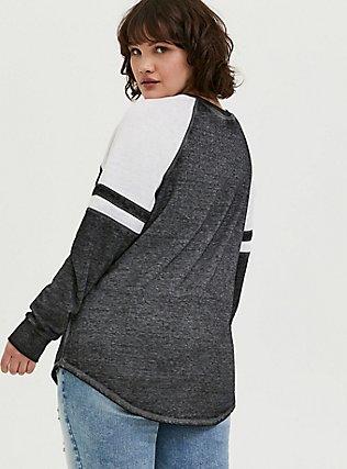 Black & White Burnout Football Sweatshirt, DEEP BLACK, hi-res