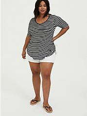 Favorite Tunic - Super Soft Stripe Black & White, STRIPE - MULTI, alternate