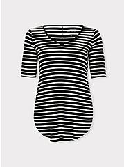 Favorite Tunic - Super Soft Stripe Black & White, STRIPE - MULTI, hi-res