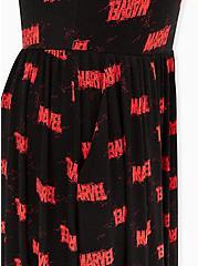 Marvel Logo Jersey Skater Dress, BLACK  RED, alternate