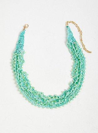 Turquoise Beaded Layered Necklace, , alternate