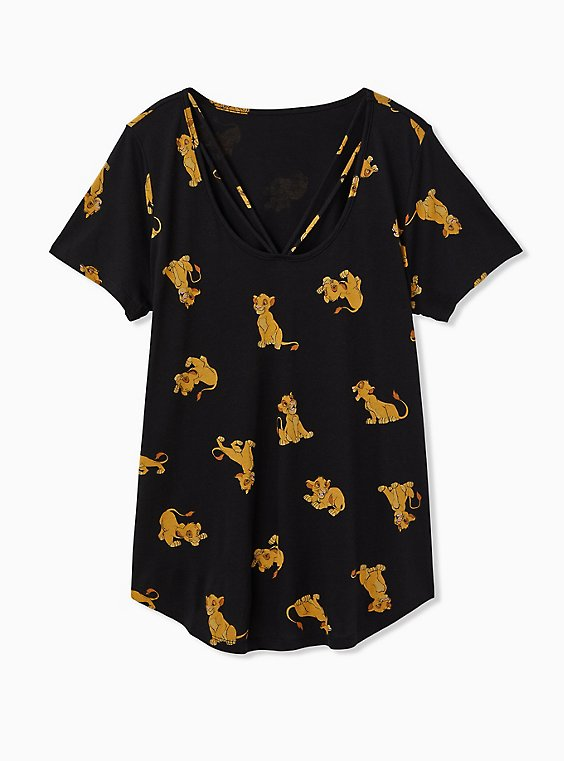 Disney The Lion King Simba Black Strappy Top, , hi-res