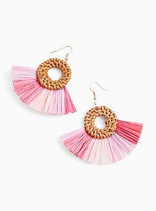 Pink Ombre Fan Earrings, , alternate