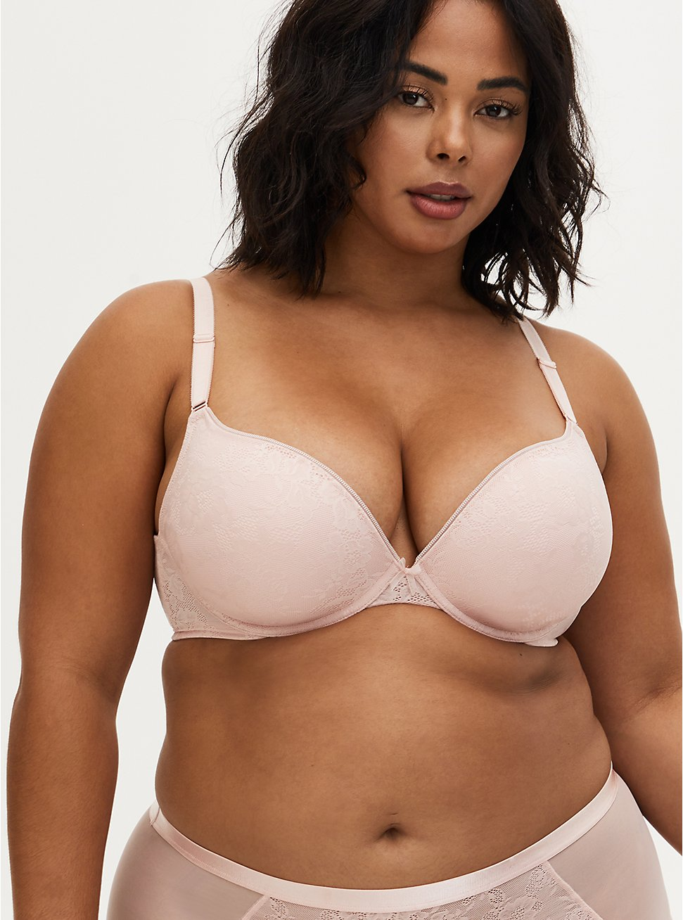 Push-Up Plunge Bra - Light Pink with 360° Back Smoothing™, LOTUS, hi-res