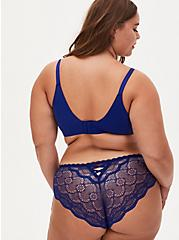 Plus Size Sapphire Blue 360° Back Smoothing™ Push-Up Everyday Wire-Free Bra, DEEP WATERS BLUE, alternate