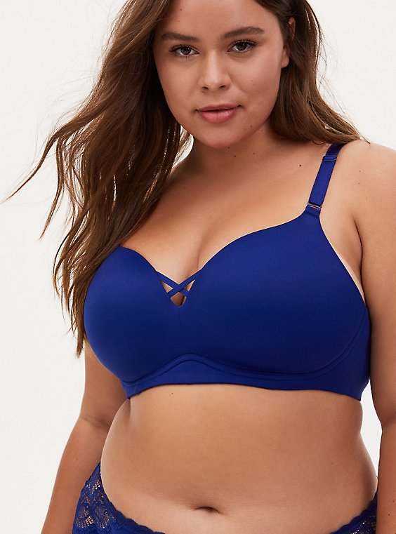 Sapphire Blue 360° Back Smoothing™ Push-Up Everyday Wire-Free Bra, , hi-res