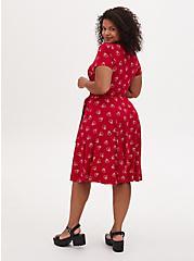 Disney Minnie Mouse Red Jersey Tie Skater Dress, MINNIE SKETCHES, alternate
