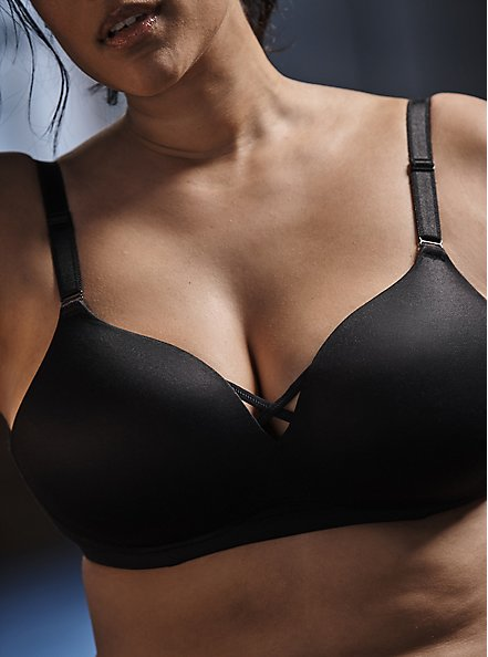 Black 360° Back Smoothing™  Push-Up Wire-Free Bra , RICH BLACK, hi-res