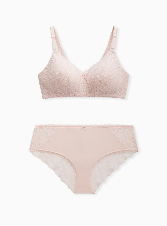 SALE!Women/'s Beige pink Unpadded lace bra size 30 32 34 36 38 40 42 Limpid KINGA