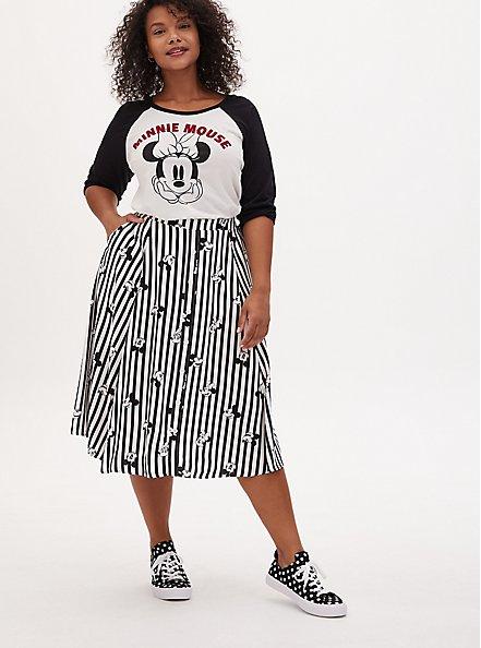 Disney Minnie Mouse White Jersey Raglan Top, CLOUD DANCER, alternate