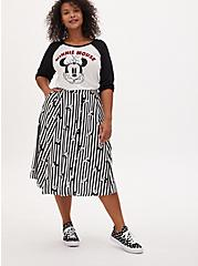 Disney Minnie Mouse White Jersey Raglan Top, CLOUD DANCER, alternate