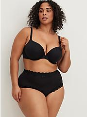 Black Front Clasp 360° Back Smoothing™ Lightly Lined T-Shirt Bra , RICH BLACK, alternate